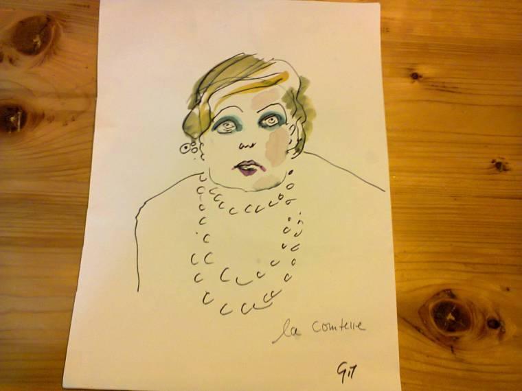 Croquis de la comtesse par Ruth Gilbert